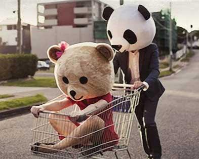 Panda Kopf Geschenk