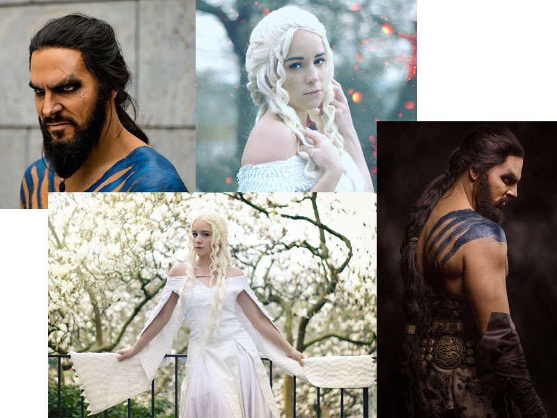 Game of Thrones Staffel 7 Cosplay Lani Riddle und Maul Cosplay