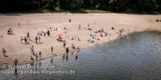 Elbebadetag Magdeburg   Wasserfall Cracau