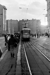 Straßenbahn am Hasselbachplatz |  Magdeburg 1989
