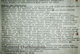Reformkonzept Neues Forum | 1. Oktober 1989 | Flugblatt