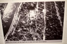 Luftbilder der Zerstörung - Magdeburg 16. 1. 1945