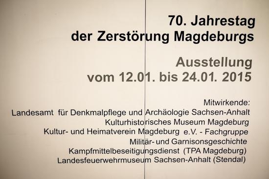 Ausstellung Zerstörung Magdeburg 16. 1. 1945