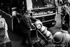 Feldschlösschen Brauerei –  Party in Brandenburger Straße (3. Februar 1990)