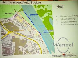 Hochwasserschutz Buckau - Maßnahmen