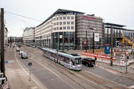 Tunnel-Baustelle Magdeburg - Ernst-Reuter-Allee / City Carré  / Hauptbahnhof