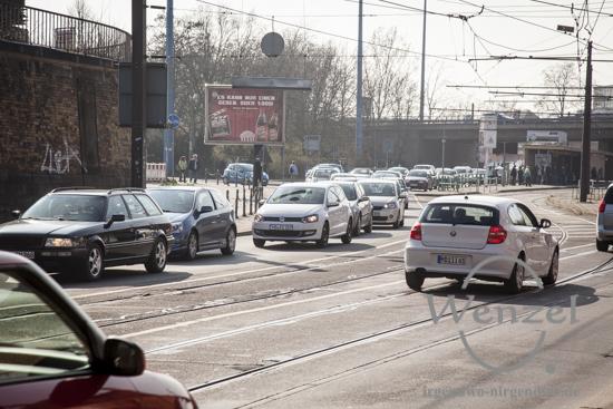 Rush Hour am Damaschkeplatz / Bahnunterführung Magdeburg