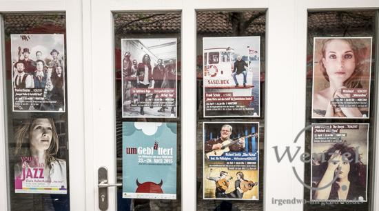 Plakate von Veranstaltungen im Moritzhof Magdeburg