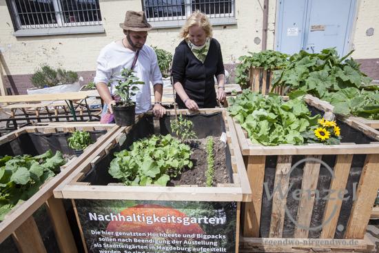 Nachhaltigkeit: Hochbeete und Bigpacks werden später zu  Stadtteilgärten in Magdeburg