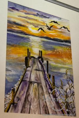 Aquarell- und Acrylmalerei von Eva Waag - Boutique Querstyle / Breiter Weg Magdeburg