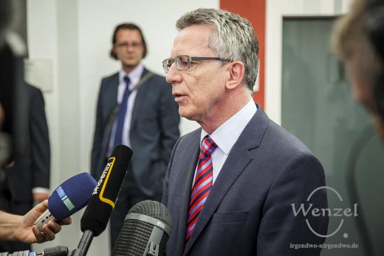 Bundesinnenminister Thomas de Maizière in Magdeburg