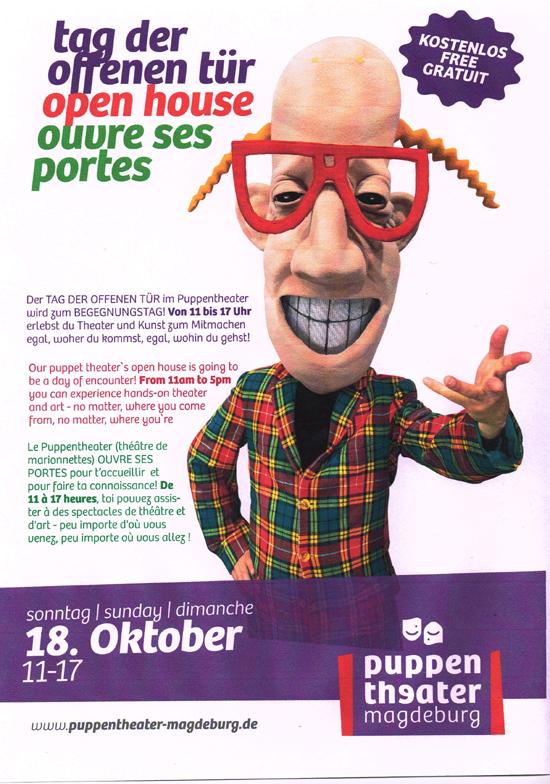 Puppentheater Magdeburg - Tag der offenen Tür 2015