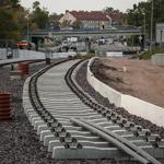 Baustelle Straßenbahntrasse Wiener Straße