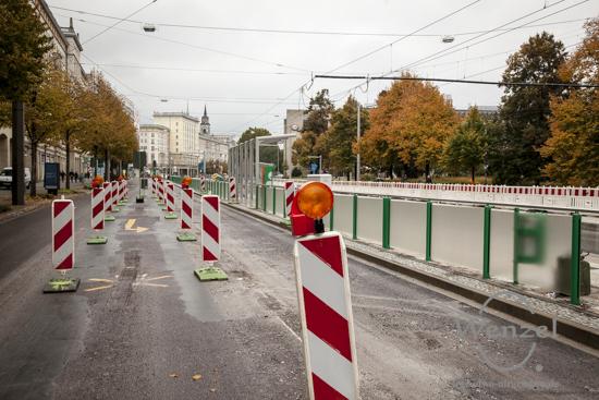 Neue Straßenbahnhaltestelle an den Weinarkaden
