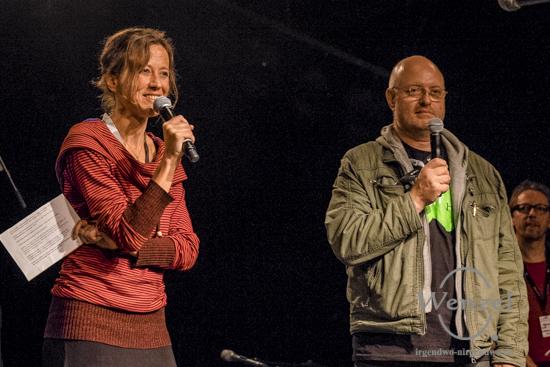 Moderatorin Katharina Spiering (l.) und László Hubert von