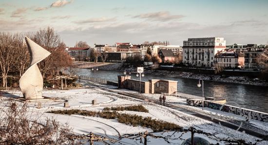 Unterwegs in Magdeburg - Januar 2016 -  Monument der Völkerfreundschaft