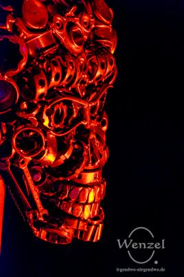 Mars-Attacks-Terminator von Pawel Lickas –  Installation Familienhaus im Park