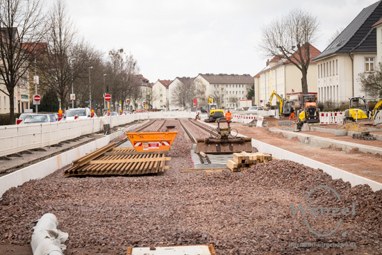 Neubau Straßenbahntrasse Wiener Straße Magdeburg