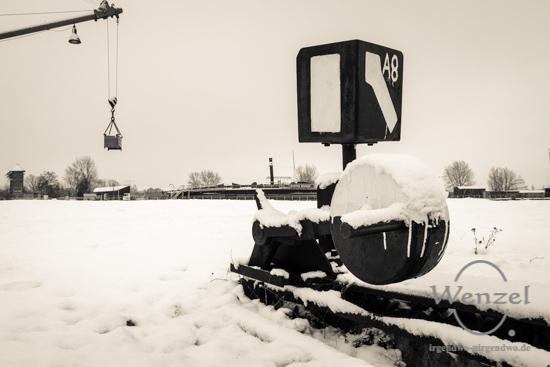 Winterspaziergang, Magdeburg, Wissenschaftshafen, Gleise –  Foto Wenzel-Oschington.de