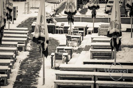 Winterspaziergang, Magdeburg, Biergarten –  Foto Wenzel-Oschington.de
