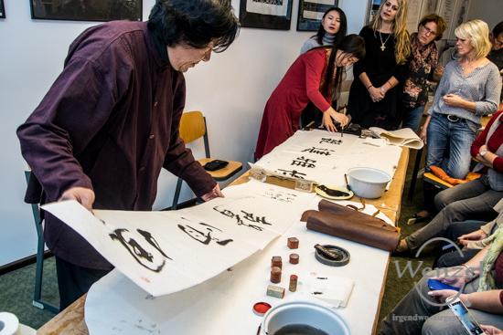 Chinesischer Künstler Zhang Xiande zu Gast in Buckau –  Foto Wenzel-Oschington.de