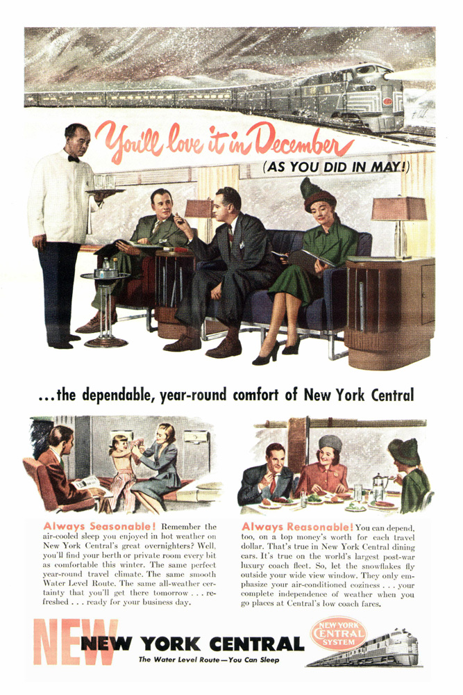 Vintage Holiday Amp Winter New York Central Ads I Ride The