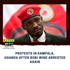 Protests in Kampala, Uganda after Bobi Wine arrested again