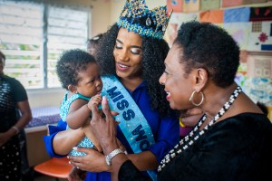 St. Thomas residents celebrate with Miss World during her home parish visit