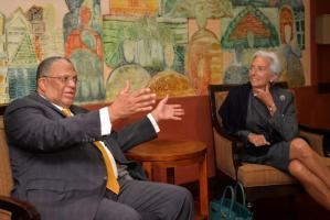 IMF head says no harsh fiscal changes needed
