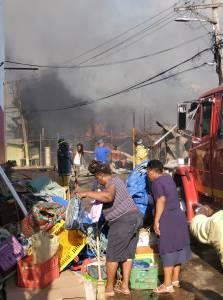Firefighters battling blaze at May Pen market in Clarendon