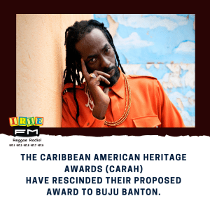 The Caribbean American Heritage Awards (CARAH) have rescinded their proposed award to Buju Banton.