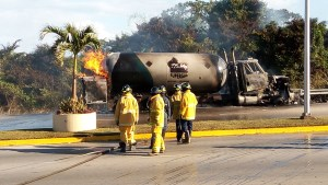 Burning gas tanker forces St. James school to close its doors