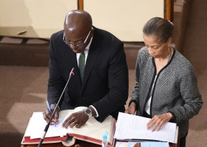 Pearnel Charles Jr sworn in as MP for South East Clarendon