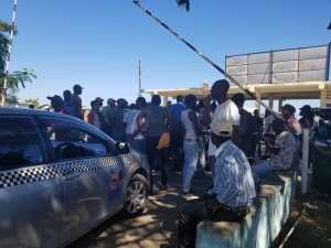 Taxi operators protest against unsanitary conditions and safety concerns at St. Ann's Bay bus park