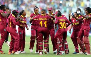 The West Indies women builds moment