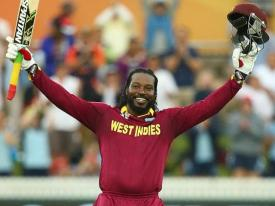 Chris Gayle in trouble ……….with his back!