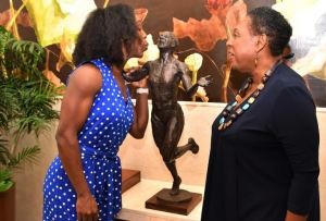 Veronica Campbell-Brown is reportedly happy with the replica of her statute