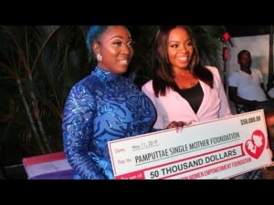 Spice donates $50k to Pamputtae's Single Mothers Foundation