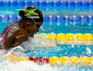 Alia Atkinson wins gold at the FINA Swimming World Cup in China