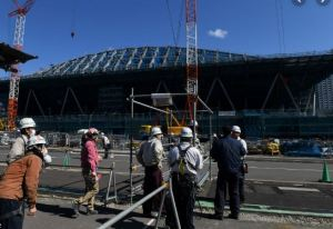 Construction worker collapses and dies from heatstroke at a construction site for next year's Olympic