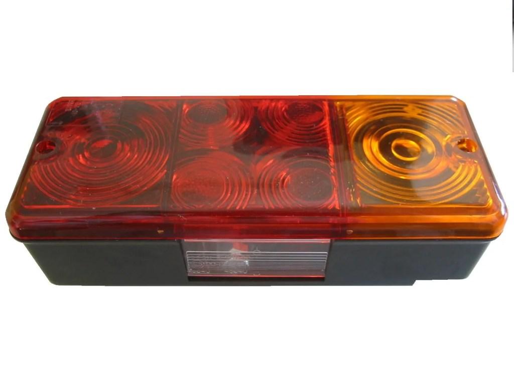 Achterlicht 210 x 83mm met kentekenverlichting