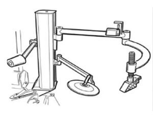 Demontage hulparm voor de BL202B