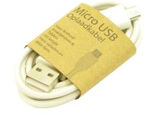 GrabNGo Laadkabel Micro USB Wit