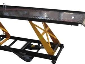 Motorfiets parallel hefbrug hydraulisch voetpomp model