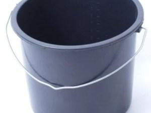 Emmer zwart 12 liter