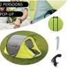 Pop-up Tent 245 x 145 x 95 cm Waterdicht & UV Beschermd