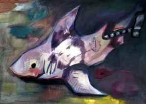 Kaputt,Öl, 50 x 70, 2010 figunetische figuren getier