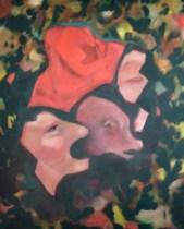 Teil, Öl, 100 x 80, 2011