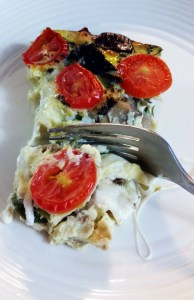 CSA Week 13 and Eggplant Caprese Quiche