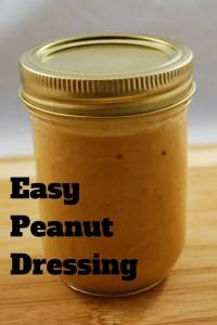 Easy Peanut Dressing